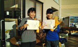 第1659回 緑ヶ丘テニスガーデン 女子ダブルス優勝:今本・松前ペア