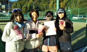 第1660回 百草テニスガーデン 女子ダブルス準優勝:『ぽっぷん♡でびる』