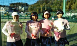 第1660回 百草テニスガーデン 女子ダブルス優勝:『Bijou』