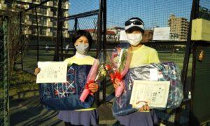 第1661回 桜台テニスクラブ 女子ダブルス優勝:坪井・塩野ペア