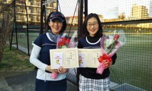 第1662回 桜台テニスクラブ 女子ダブルス準優勝:棚田・和田ペア