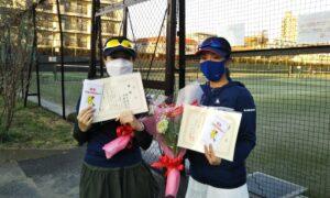 第1662回 桜台テニスクラブ 女子ダブルス優勝:鈴木・木村ペア