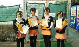 第1664回 関町ローンテニスクラブ 女子チーム戦準優勝:『桜カルテット』