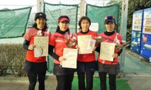 第1664回 関町ローンテニスクラブ 女子チーム戦優勝:『てにてに』