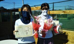 第1672回 新座ローンテニスクラブ 女子ダブルス準優勝:桂・片桐ペア