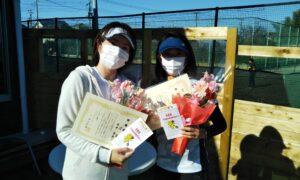 第1673回 新座ローンテニスクラブ 女子ダブルス準優勝:沼・田中ペア