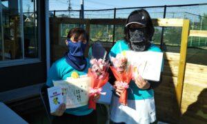 第1673回 新座ローンテニスクラブ 女子ダブルス優勝:池田・青木ペア