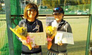 第1680回 百草テニスガーデン 女子ダブルス準優勝:黒田・小川ペア
