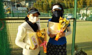 第1680回 百草テニスガーデン 女子ダブルス優勝:中田・川村ペア