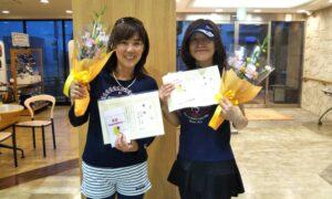 第1681回 緑ヶ丘テニスガーデン 女子ダブルス優勝:岡西・高谷ペア