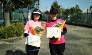第1690回 サンライズテニススクール調布校 女子ダブルス準優勝:明吉・水野ペア