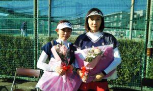 第1693回 関町ローンテニスクラブ 女子ダブルス準優勝:田中・西岡ペア
