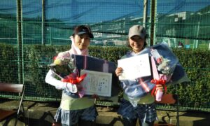 第1693回 関町ローンテニスクラブ 女子ダブルス優勝:増田・小柳ペア
