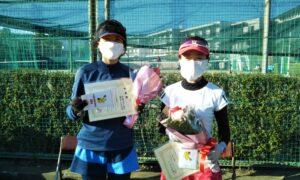 第1694回 関町ローンテニスクラブ 女子ダブルス準優勝:古澤・藤井ペア