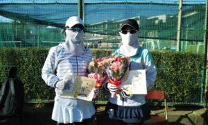 第1694回 関町ローンテニスクラブ 女子ダブルス優勝:斉藤・多田ペア