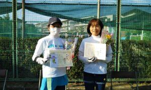 第1698回 関町ローンテニスクラブ 女子ダブルス準優勝:橋本・高倉ペア