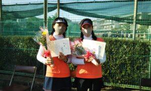 第1698回 関町ローンテニスクラブ 女子ダブルス優勝:高梨・古瀬ペア