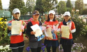 第1701回 緑ヶ丘テニスガーデン 女子チーム戦準優勝:『テニスボール4姉妹』