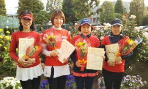 第1701回 緑ヶ丘テニスガーデン 女子チーム戦優勝:『カルテット』