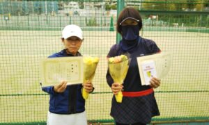 第1702回 百草テニスガーデン 女子ダブルス準優勝:近藤・渡井ペア