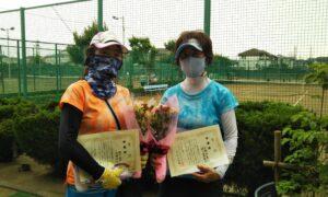 第1703回 新座ローンテニスクラブ 女子ダブルス準優勝:坂下・平野ペア
