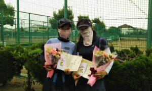 第1704回 新座ローンテニスクラブ 女子ダブルス準優勝:別所・櫻田ペア