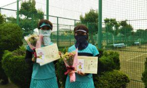 第1704回 新座ローンテニスクラブ 女子ダブルス優勝:山崎・仲田ペア