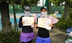 第1705回 サンライズテニススクール調布校 女子ダブルス準優勝:中本・佐藤ペア