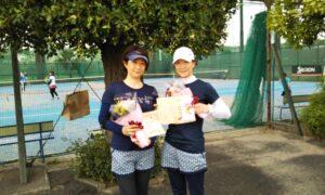 第1705回 サンライズテニススクール調布校 女子ダブルス優勝:岩崎・阿部ペア