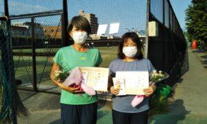 第1712回 桜台テニスクラブ 女子ダブルス準優勝:相馬・酒井ペア