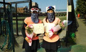第1712回 桜台テニスクラブ 女子ダブルス優勝:中川・猪俣ペア
