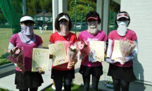 第1714回 百草テニスガーデン 女子チーム戦優勝:『ベリーベリーストロベリー』