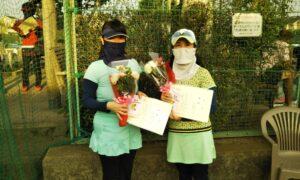 第1716回 関町ローンテニスクラブ 女子ダブルス優勝:佐藤・古田ペア
