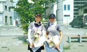 第1718回 南町田インターナショナルテニスカレッジ 女子ダブルス優勝:松本・林ペア