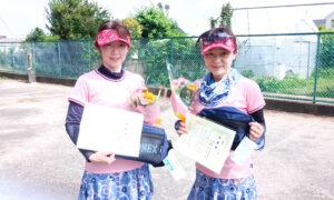第1723回 サンライズテニススクール調布校 女子ダブルス準優勝:吉浦・宮本ペア