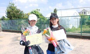 第1723回 サンライズテニススクール調布校 女子ダブルス優勝:西岡・山口ペア