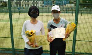 第1724回 百草テニスガーデン 女子ダブルス準優勝:宇津木・古山ペア