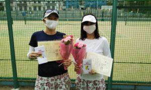 第1724回 百草テニスガーデン 女子ダブルス優勝:浜口・浅井ペア