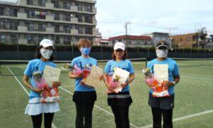 第1726回 桜台テニスクラブ 女子チーム戦準優勝:『テニスボール4姉妹』