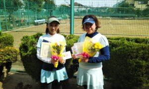 第1727回 新座ローンテニスクラブ 女子ダブルス準優勝:安井・野澤ペア