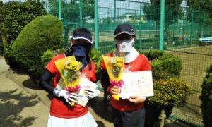 第1727回 新座ローンテニスクラブ 女子ダブルス優勝:栗林・長谷川ペア