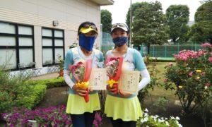 第1732回 緑ヶ丘テニスガーデン 女子ダブルス準優勝:鈴木・西村ペア