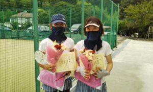 第1733回 百草テニスガーデン 女子ダブルス準優勝:弥冨・安池ペア