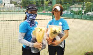 第1733回 百草テニスガーデン 女子ダブルス優勝:坂下・平野ペア