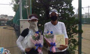 第1735回 関町ローンテニスクラブ 女子ダブルス準優勝:早川・海江田ペア