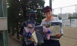 第1735回 関町ローンテニスクラブ 女子ダブルス優勝:笠・三宅ペア