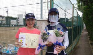 第1736回 関町ローンテニスクラブ 女子ダブルス準優勝:山本・佐田ペア