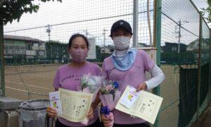 第1736回 関町ローンテニスクラブ 女子ダブルス優勝:橋本・山下ペア