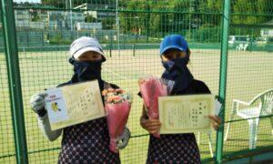 第1740回 百草テニスガーデン 女子ダブルス準優勝:古市・上西ペア