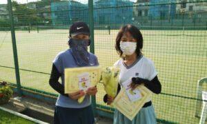 第1740回 百草テニスガーデン 女子ダブルス優勝:中川・新関ペア